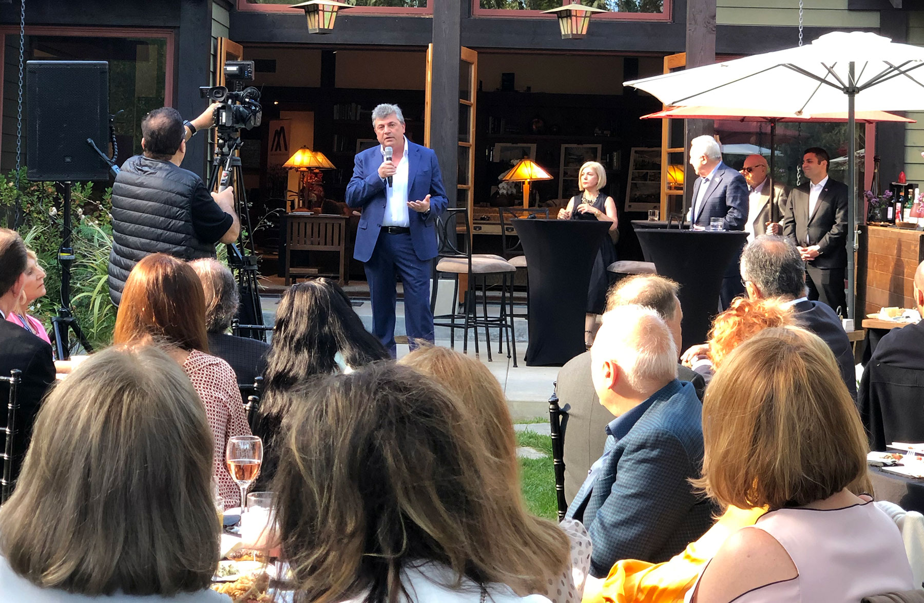 Aram Alajajian of Alajajian Marcoosi Architects at Armenian American Museum Founder's Circle Reception