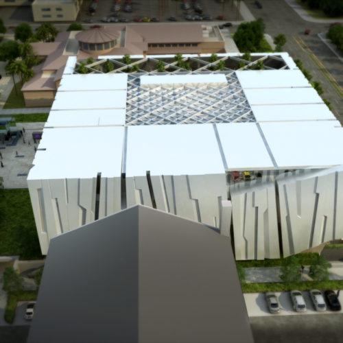 Armenian American Museum Aerial West to East