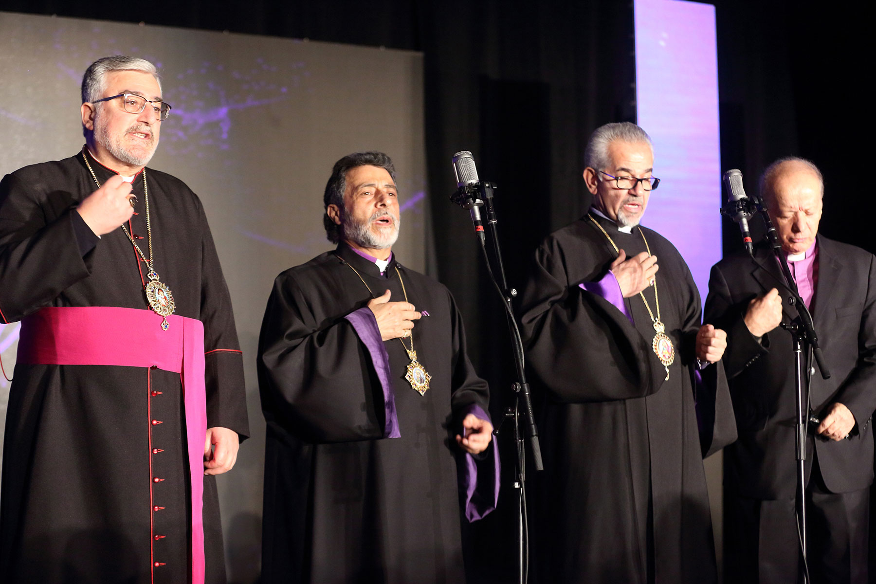 Armenian American Museum Board of Trustees Co-Chairs Leading Invocation