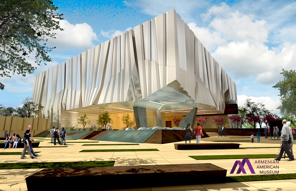 Armenian american museum design unveiled armenian for Notion architecture