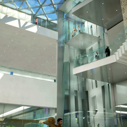 Armenian American Museum Grand Lobby Atrium