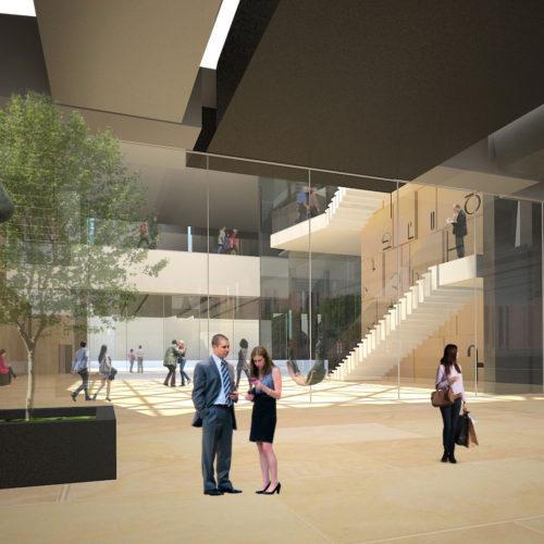 Armenian American Museum Grand Lobby Entryway